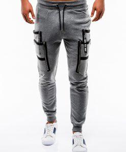 Stilingos tamsiai pilkos vyriškos sportinės kelnės internetu pigiau P739 12581-1