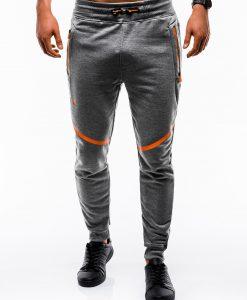 Tamsiai pilkos sportinės kelnės vyrams internetu pigiau P742 12587-1