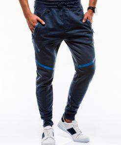 Tamsiai mėlynos vyriškos sportinės kelnės internetu pigiau P742 12588-2
