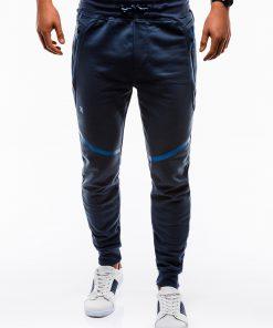 Tamsiai mėlynos sportinės kelnės vyrams internetu pigiau P742 12588-6