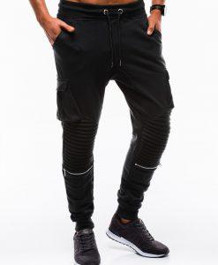 Juodos vyriškos sportinės kelnės internetu pigiau P747 12591-3