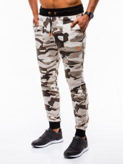 Smėlio kamufliažinės vyriškos sportinės kelnės internetu pigiau Frist P820 12597-2