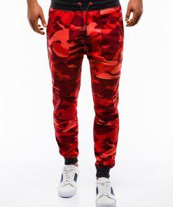 Raudonos kamufliazines vyriskos sportines kelnes vyrams internetu pigiau Frist P820 12598-1