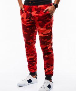 Raudonos kamufliažinės sportinės kelnės vyrams internetu pigiau Frist P820 12598-2