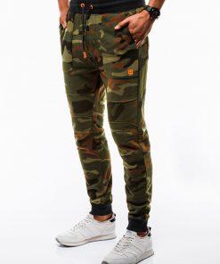 Žalios kamufliažinės sportinės kelnės vyrams internetu pigiau Frist P820 12599-2
