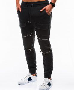Stilingos juodos sportinės kelnės vyrams internetu pigiau P821 12600-2