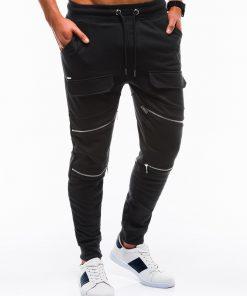 Stilingos juodos vyriškos sportinės kelnės internetu pigiau P821 12600-3