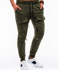 Stilingos chaki vyriškos sportinės kelnės internetu pigiau P821 12602-3