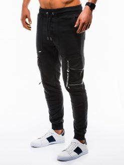 Stilingos juodos sportinės kelnės vyrams internetu pigiau P822 12604-1