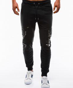 Stilingos juodos sportines kelnes vyrams internetu pigiau P822 12604-5