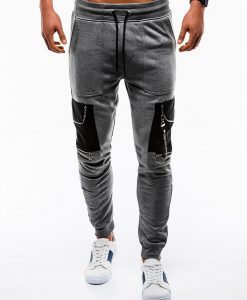 Stilingos tamsiai pilkos sportines kelnes vyrams internetu pigiau P822 12605-5