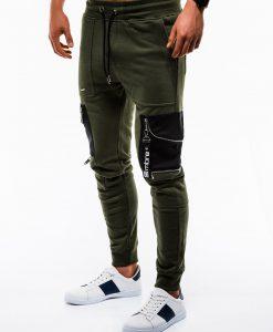 Stilingos chaki sportinės kelnės vyrams internetu pigiau P822 12606-1