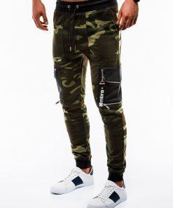 Stilingos žalios kamufliažinės sportinės kelnės vyrams internetu pigiau P822 12608-1