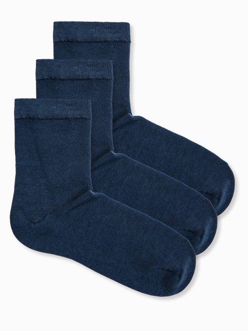 Tamsiai mėlynos vyriškos kojinės 3 vnt. U61 internetu pigiau 12647-1