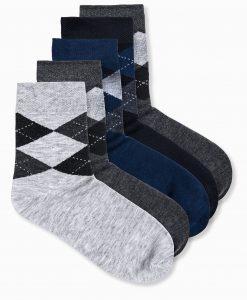 Įvairiaspalvės vyriškos kojinės 5 vnt. U63 12651-1