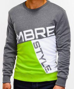 Tamsiai pilkas džemperis vyrams su užrašu internetu pigiau B927 12761-4