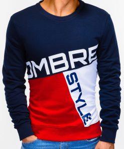 Tamsiai mėlynasdžemperis vyrams su užrašu internetu pigiau B927 12762-2