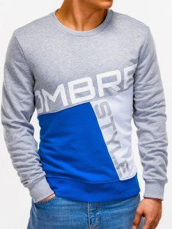 Pilkas vyriškas džemperis su užrašu internetu pigiauB927 12763-2