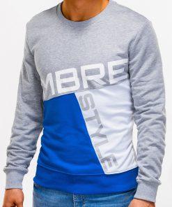 Pilkas džemperis vyrams su užrašu internetu pigiauB927 12763-4