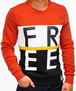 Oranžinis vyriškas džemperis internetu pigiau B928 12766-1