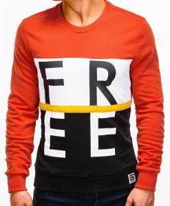 Oranžinis džemperis vyrams internetu pigiau B928 12766-4