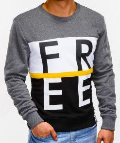Tamsiai pilkas vyriškas džemperis internetu B928 12768-1