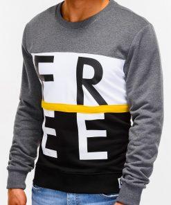 Tamsiai pilkas džemperis vyrams internetu B928 12768-5