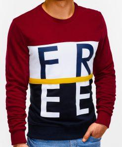 Tamsiai raudonas vyriškas džemperis internetu B928 12769-3