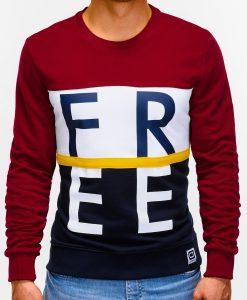 Tamsiai raudonas džemperis vyrams internetu B928 12769-4