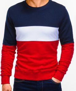 Raudonas vyriškas džemperis internetu B925 12773-1
