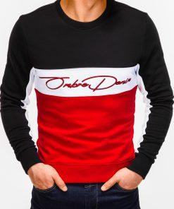Raudonas džemperis vyrams su užrašu internetu pigiau B924 12777-3