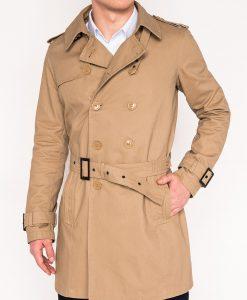 Smėlio vyriškas paltas internetu pigiau Forhim C346 12812-2