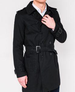 Juodas paltas vyrams internetu C346 12813-1