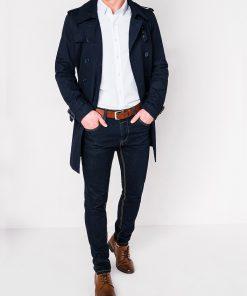 Tamsiai mėlynas vyriškas paltas internetu pigiau C346 12814-1