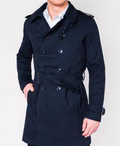Tamsiai mėlynas paltas vyrams internetu pigiau C346 12814-3