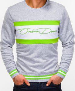 Pilkas džemperis vyrams internetu pigiau B933 12818-2