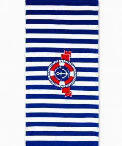 Tamsiai mėlynas paplūdimio rankšluostis internetu pigiau Indo A196 12865-1