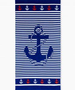 Tamsiai mėlynas paplūdimio rankšluostis internetu pigiau Sea A193 12867-1