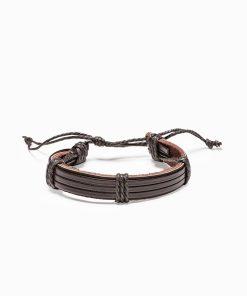 Tamsiai ruda odinė vyriška apyrankė internetu pigiau A206 13082-3