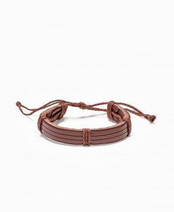 Ruda odinė vyriška apyrankė internetu pigiau A206 13084-2