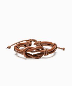 Ruda odinė vyriška apyrankė internetu pigiau A208 13089-2