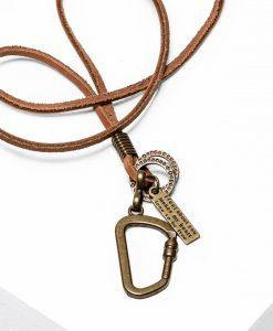 Rudas vyriškas papuošalas kaklo internetu pigiau A212 13093-1