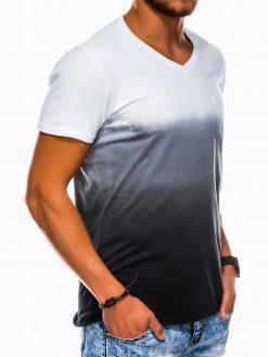 Juodi vyriški marškinėliai internetu pigiau S1036 13214-1