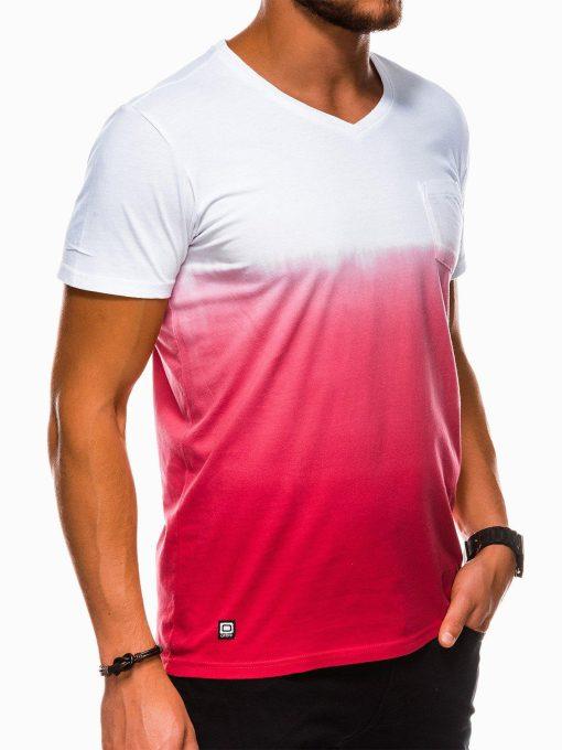 Raudoni vyriški marškinėliai internetu pigiau S1036 13215-2