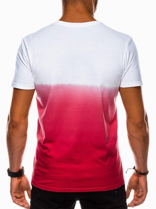 Raudoni marskineliai vyrams internetu pigiau S1036 13215-3