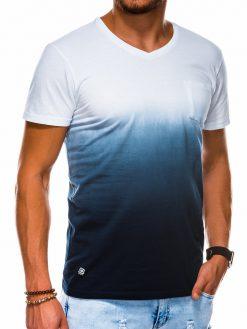 Tamsiai mėlyni vyriški marškinėliai internetu pigiau S1036 13216-3