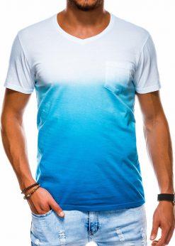 Mėlyni vyriški marškinėliai internetu pigiau S1036 13217-1