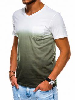 Chaki vyriški marškinėliai internetu pigiau S1036 13218-1