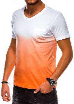 Oranžiniai vyriški marškinėliai internetu pigiau S1036 13219-3