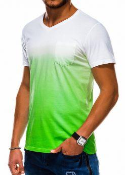 Žali vyriški marškinėliai internetu pigiau S1036 13220-4
